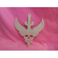 4mm  thick MDF Skull with dagger design